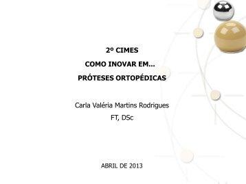 UFF - Prof. Carla Valéria Martins Rodrigues - 2º Cimes