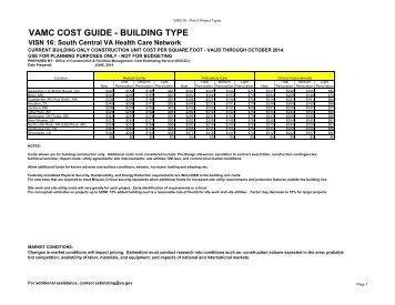 VISN 16 - VAMC Cost Guide - Office of Construction and Facilities ...