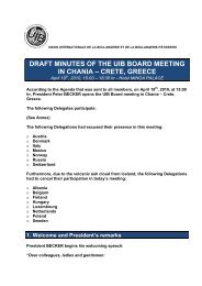 draft minutes of the uib board meeting in chania ... - Uibaker.org