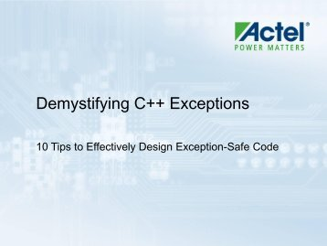 Demystifying C++ Exceptions