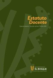 Estatuto Docente - Universidad El Bosque