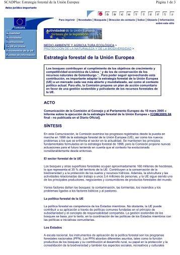 Estrategia forestal de la Unión Europea