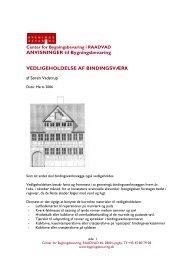 ANVISNINGER til Bygningsbevaring VEDLIGEHOLDELSE AF ...