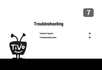 Troubleshooting - TiVo