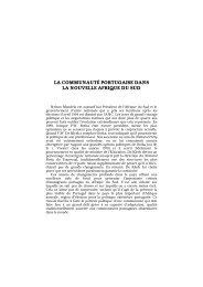 la communauté portugaise dans la nouvelle afrique du sud - Lusotopie