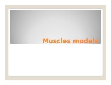 Muscles models - Sinoe medical homepage.