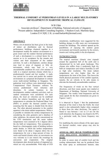 thermal comfort at pedestrian levels in a large multi-storey ... - ibpsa