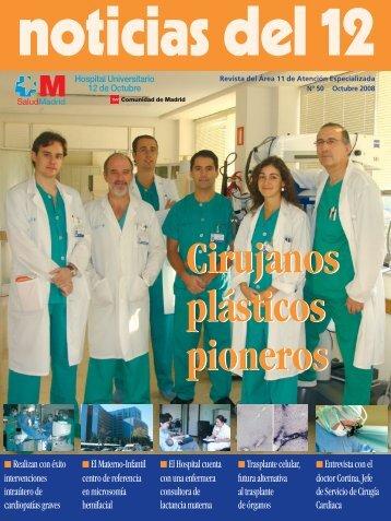 Cirujanos plásticos pioneros noticias del 12 - Comunidad de Madrid