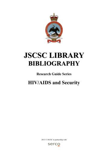 JSCSC Library Reader's Guide: HIV/AIDS Security