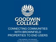 connecting communities with brownfield properties to end users