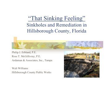 """That Sinking Feeling"" Sinkholes and Remediation in ... - FACERS"