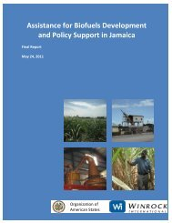 Jamaica Biofuels Report - Ministry of Energy
