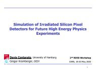 Simulation of Irradiated Silicon Pixel Detectors for ... - CERN RD50
