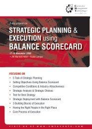 Balance Scorecard - CMT Conferences