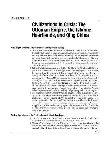 Civilizations in crisis: the ottoman empire, the islamic