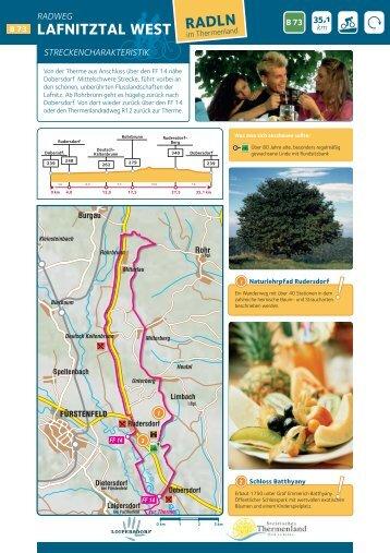 Radkarte als PDF downloaden - Tourismusverband Loipersdorf