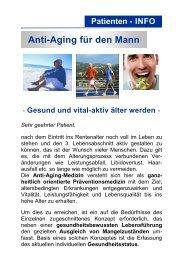 Anti-Aging für den Mann - Gesund und vital - Laborzentrum Ettlingen