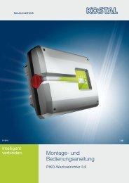 Montage- und Bedienungsaneitung - Solar-Fabrik AG