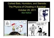 The Physics of Cheating in Baseball - The Physics of Baseball