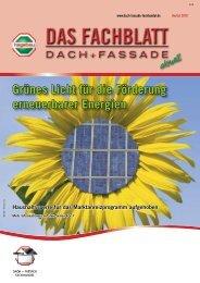 Neue Kundenzeitschrift Dach + Fassade Nr. 3 / 2010