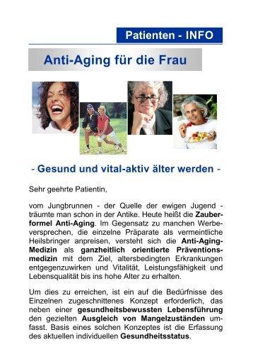 Anti-Aging für die Frau - Gesund und vital - Laborzentrum Ettlingen