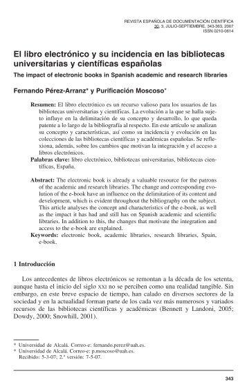 El libro electrónico y su incidencia en las bibliotecas universitarias y ...