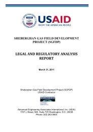 LEGAL AND REGULATORY ANALYSIS REPORT - Afghan