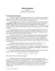 Review of Number Systems and Binary Numbers - Bob Brown ...