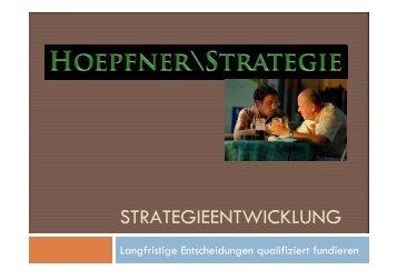 Prozess der Strategie-Entwicklung