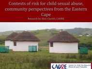 Contexts of risk for child sexual abuse, community perspectives ...