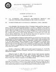Advisory Letter 08-01. Payment Pursuant To Coverage D, Additional ...