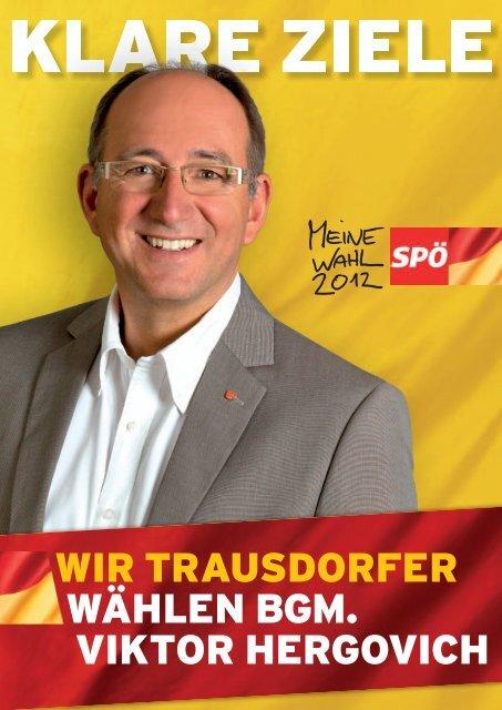 Folder Gemeinderatswahl 2012 - bei der SPÖ Trausdorf