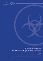 The Management of Viral Haemorrhagic Fevers in Ireland - Health ...
