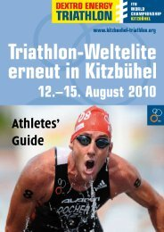 Athlete guide 2010_5_August - ITU World Triathlon Kitzbuehel