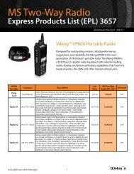 Download EFJohnson Price List PDF