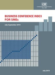 BUSINESS CONFIDENCE INDEX FOR SMEs - CII