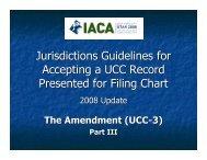 UCC3 Filing Chart Examples - IACA
