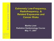 Slides - Radiation Epidemiology Course - National Cancer Institute