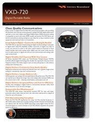 VXD-720 Digital Portable Radio Specification Sheet - Buy Two Way ...