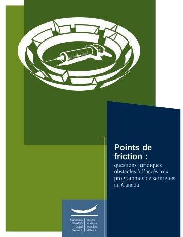 Points de friction : obstacles à l'accès aux programmes de ... - CATIE