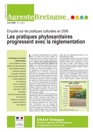 Les pratiques phytosanitaires progressent avec la ... - Agreste
