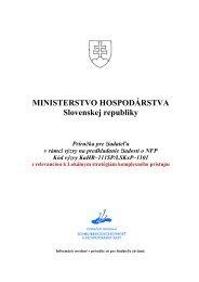 Príručka pre žiadateľa v rámci výzvy na predkladanie žiadostí o NFP ...
