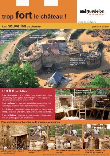 Trop fort le château ! N°10 (PDF - 638 Ko) - Guédelon