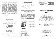 Herzliche Einladung zum 24. Psychose-Seminar