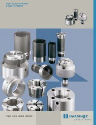 HQC® QuiCk-CHange COLLeT SYSTeMS - Hardinge Inc.