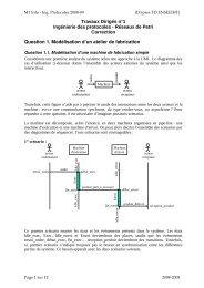 Travaux Dirigés n°1 Ingénierie des protocoles - Réseaux de Petri ...