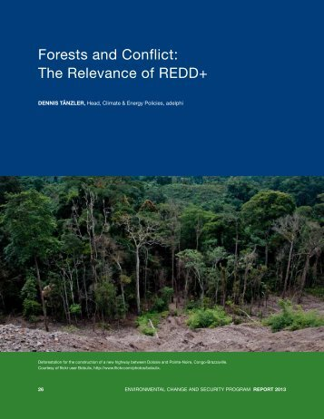 Forests and Conflict: the relevance of rEdd+ - adelphi