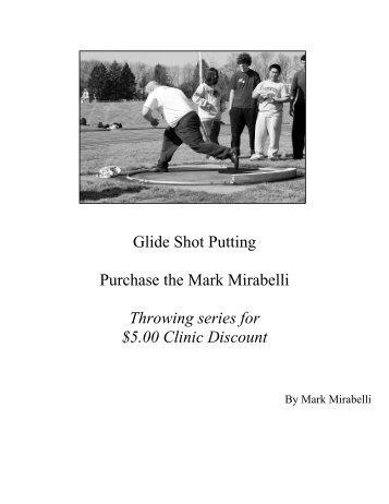 discus drills and throwing progressions Discus drills and throwing progressions by john smith southern illinois university drill #1 non-reverse standing throw followed by a reverse standing throw.