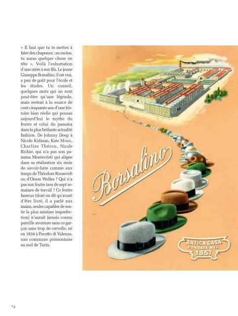 Borsalino - Magazine Sports et Loisirs