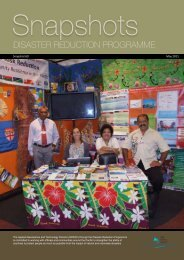 DISASTER REDUCTION PROGRAMME - SOPAC